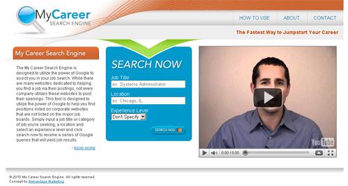My Career Search Engine Screenshot