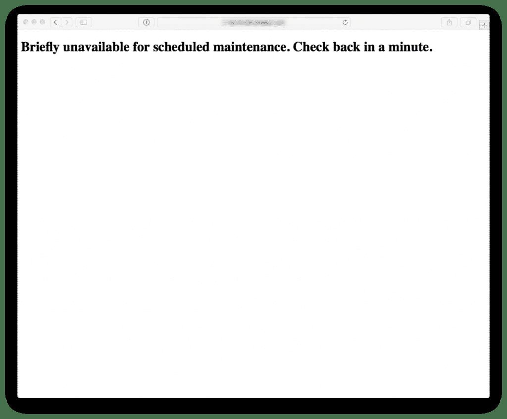 Default Maintenance Page