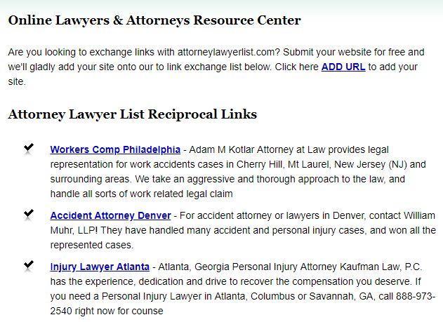lawyer link exchange